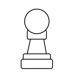Chess piece icon image vector