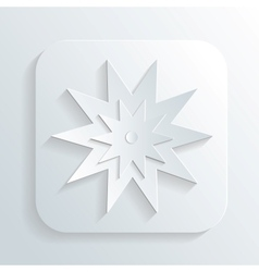 Christmas star design background vector image