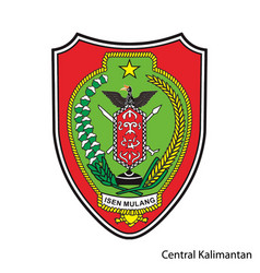 Coat arms central kalimantan is a vector