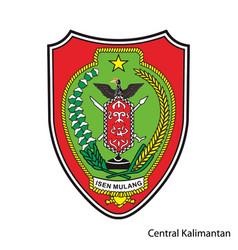 Coat arms central kalimantan vector