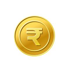 coin icon indian rupee sign golden coin vector image