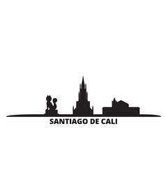 Colombia santiago de cali city skyline isolated vector