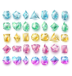 color cutting gems nature brilliants precious vector image