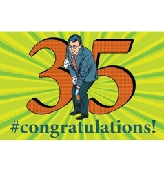Congratulations 35 anniversary event celebration vector image