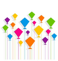 Creative colorful kite pattern vector