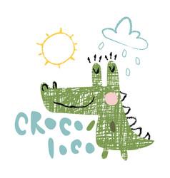croco loco vector image