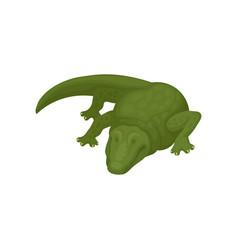 Crocodile green amphibian animal vector