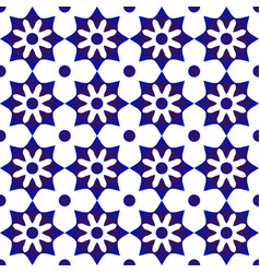 Cute tile pattern blue and white vector