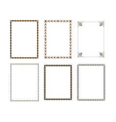 decorative frame elegant element for design vector image
