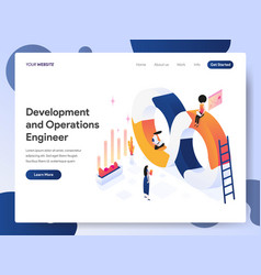 development and operations engineer isometric vector image
