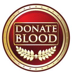 Donate Blood Red Label vector