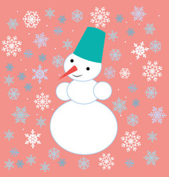 Drawings for christmas image of a snowman on the vector