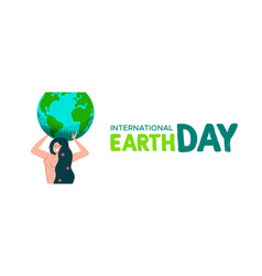 earth day mother nature banner with green planet vector image