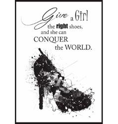 Fashion Woman shoe vector