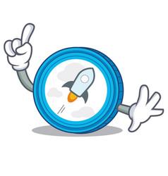 Finger stellar coin character cartoon vector