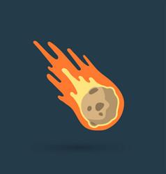 flame meteorite vector image