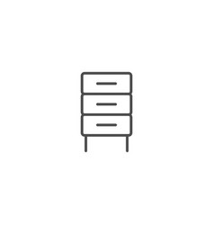 furniture cabinet icon vector image