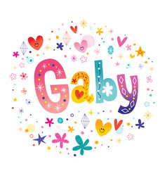 Gaby girls name vector