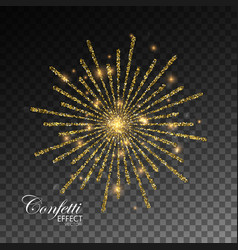 glowing explode sparkling particles vector image