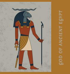 God ancient egypt khnum egyptian ancient vector