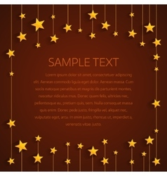 Golden stars background with place for text vector