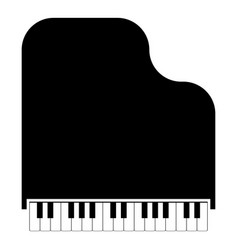 grand piano icon black color flat style simple vector image