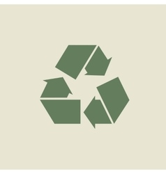 Green recycle sign or icon vector image