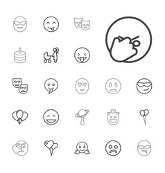 Happiness icons vector