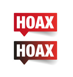 Hoax sign label tag vector