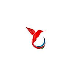 hummingbird logo design icon design vector image