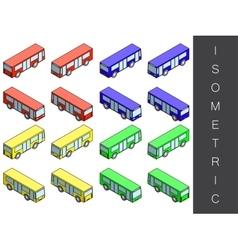 Isometric transport icon set vector image
