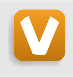 Letter v logo icon vector