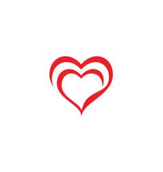 Love logo icon design vector