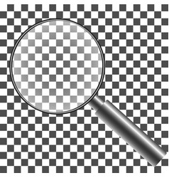 magnifying glass with transparent background with vector image