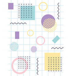 memphis figures pop textile 80s 90s style abstract vector image