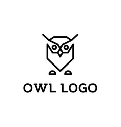 owl logo design inspiration vector image
