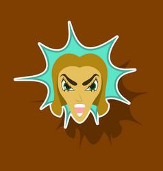 Paper sticker on theme evil women vector