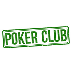 poker club grunge rubber stamp vector image