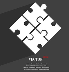 Puzzle piece icon symbol Flat modern web design vector