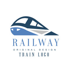 Railway train logo original design railroad vector