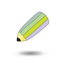 school pencil cartoon style design vector image
