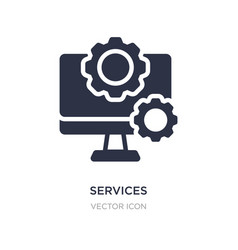 Services icon on white background simple element vector