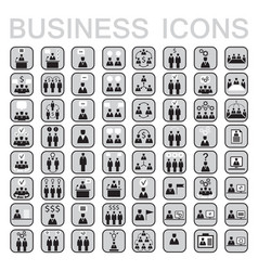 Set of 64 web icons for business businessman vector