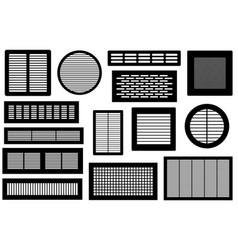 Set of different ventilations grilles vector