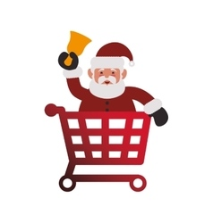 Shopping cart of Merry Christmas design vector image