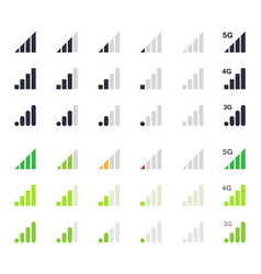 signal strength indicator signs vector image