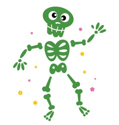 skeleton cartoon vector image vector image