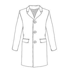 Sketch trench-coat vector
