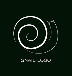 snail logo template linear animal snail vector image