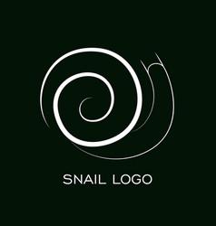 snail logo template linear animal vector image